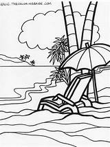 Coloring Island Pages Relaxation Relaxing Summer Beach Colouring Sheets Adults Drawing Glass Rhode Stained Printable Reading Ocean Popular Line Getcolorings sketch template