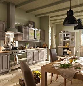 cuisine bistrot lapeyre darty aviva noire rouge With ordinary meuble style campagne chic 0 cuisine noire style bistrot cuisine pinterest