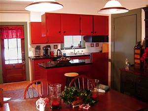 Red Country Kitchen – Best Design for Big Small Kitchen