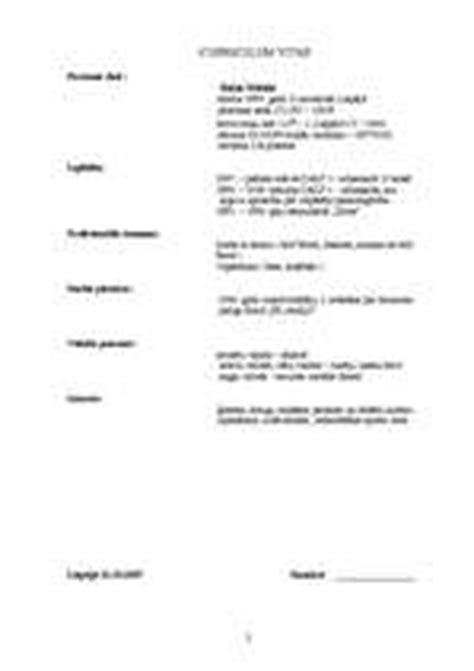 CV un motivācijas vēstules paraugs / Paraugs / ID: 147870
