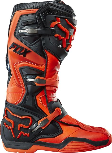 fox boots motocross fox comp 8 motocross boots orange mx enduro off road quad