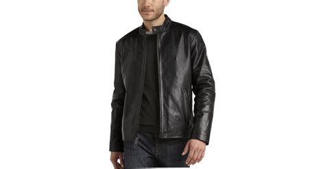 Marc New York Black Leather Modern Fit Motorcycle Jacket