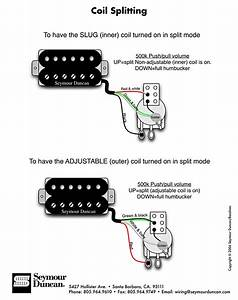 Wiring Diagram For Splitting The Humbucker Into A Single Coil