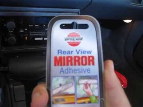 How Reattach Rearview Mirror Youtube