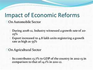 New economic reforms in india and its impac ts