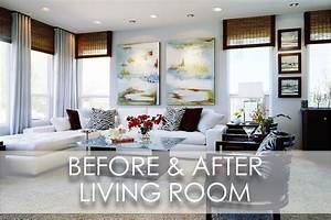 Beach Inspired Modern Family Room Before And After