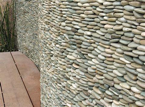 zen paradise standing pebble tile installations exterior