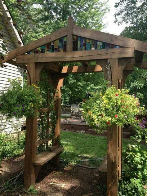 beautiful trellis archway  bench project difficulty