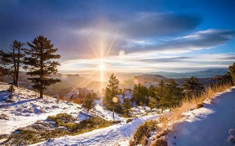 landscape, Winter, Forest Wallpapers HD / Desktop and ...