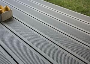Lame De Bois Pour Terrasse : lame de terrasse en bois composite teinte gris anthracite profil lisse rainur ou structur ~ Melissatoandfro.com Idées de Décoration