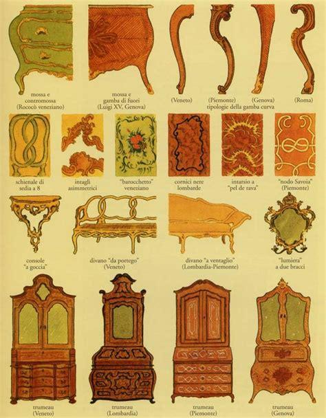 storia del mobile rococo cose  vecchie case