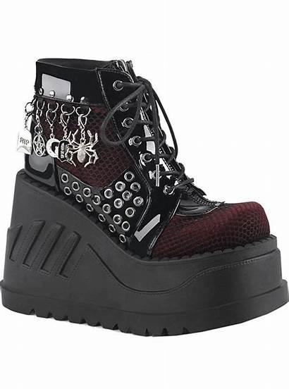 Boots Platform Stomp Demonia Vegan Ankle Goth