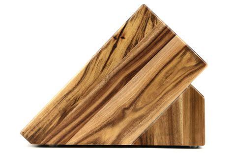 empty wood knife block acacia  slot cutlery