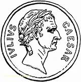 Coin Caesar Coins Coloring Roman Pages Ancient Clipart Gold Money Rome Julius Etc Empire Usf Edu Colorir Roma Printable Para sketch template
