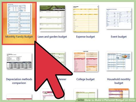 personal budget  excel  pictures