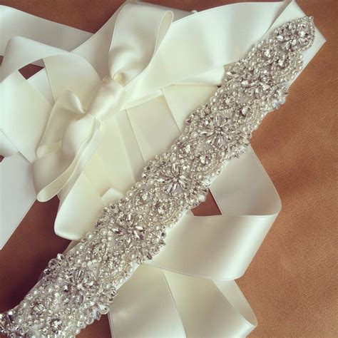 bridal sash belt wedding dress sash belt rhinestone