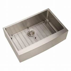 vigo undermount apron front stainless steel 33x2225x10 in With 33x22 farmhouse sink