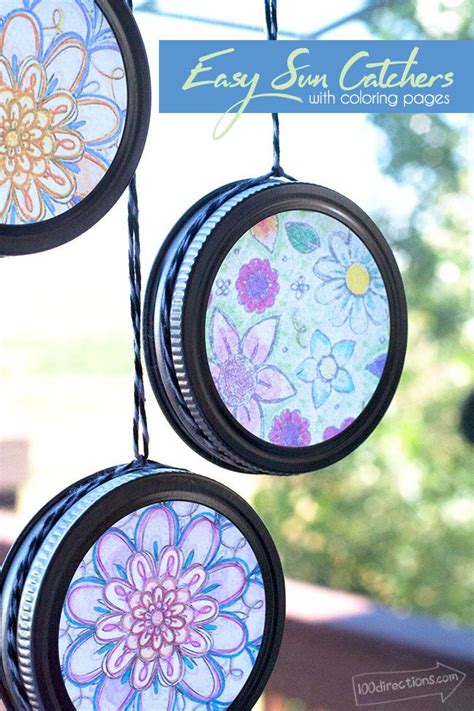 easy sun catchers  coloring pages jar crafts crafts