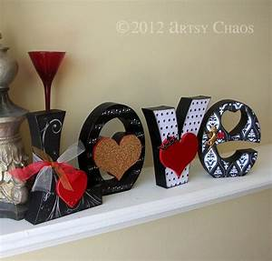 unfinished wood love letters valentine decor With love letter decoration