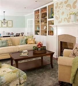 Wandgestaltung Mit Tapeten : kreative wandgestaltung im wohnzimmer ideen f r ~ Lizthompson.info Haus und Dekorationen