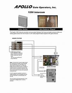 Gate Intercom Wiring Diagram
