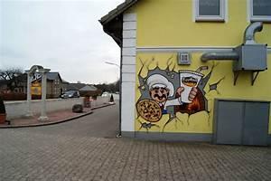 Pizza Haus Braunschweig : graffiti pizzeria wandgestaltung mit wunderbaren einblick ~ Lizthompson.info Haus und Dekorationen