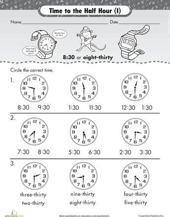 on the half hour telling time with malcolm mouse