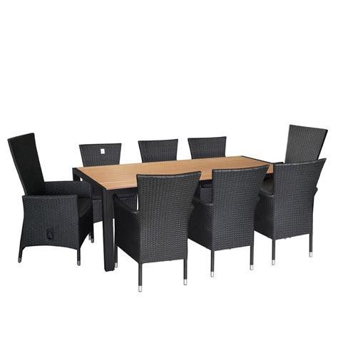 Rattansessel Mit Tisch by 9tlg Gartengarnitur Terrassenm 246 Bel Set Aluminium Polywood