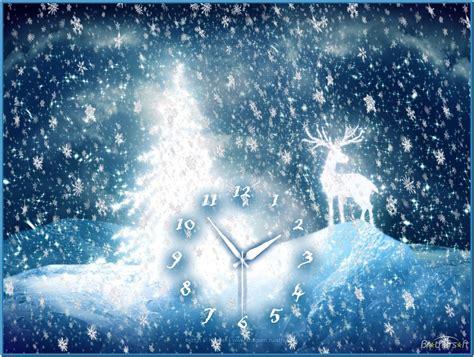 Merry Christmas Clock Screensaver  Download Free