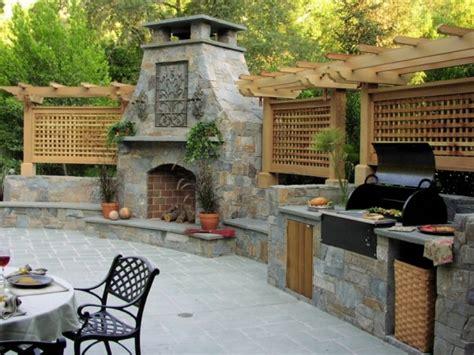 Outdoor Bbq Area, Outdoor Kitchen Designs Summer Kitchen Outdoor Fireplace. Kitchen Ideas