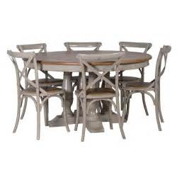 French Cross Back Chairs by Gloucester Grey Distressed Round Dining Table Shabby Chic Furniture French Style Dining