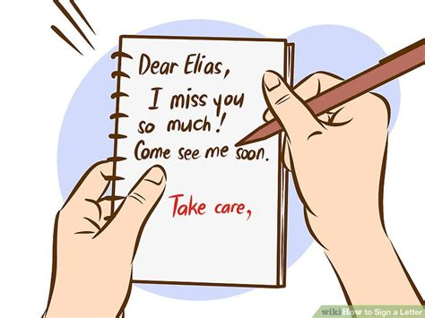 ways to sign a letter the best ways to sign a letter wikihow 50314
