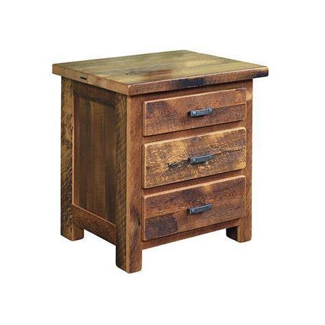 Farmhouse Nightstand by Reclaimed Wood Farmhouse Nightstand