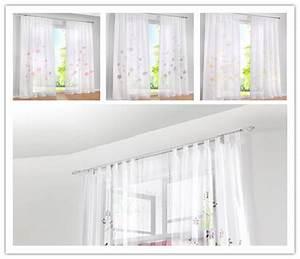 Gardine Kinderzimmer Transparent : gardinen vorh nge schlaufenschal deko gardinen gardinen stores transparent wei ebay ~ Watch28wear.com Haus und Dekorationen