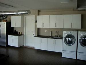 Garage closets cabinets traditional laundry room for Garage laundry room design
