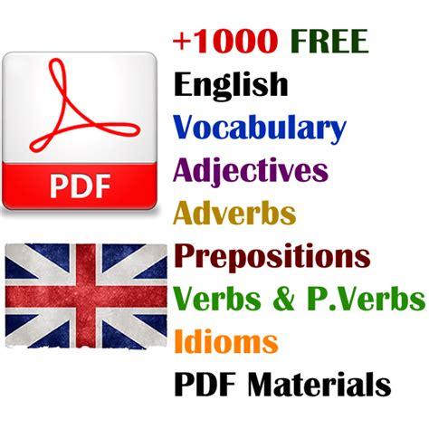 English Vocabulary PDF Materials  Vocabulary Home