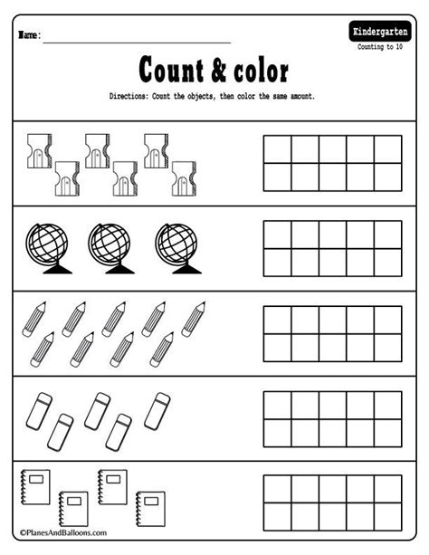 kindergarten math worksheets  files