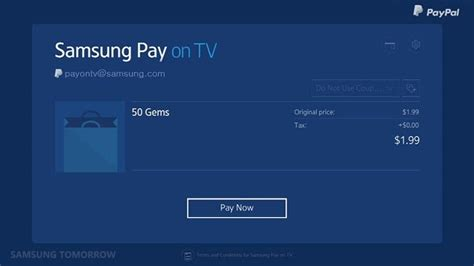 samsung pay heading to smart tvs news opinion pcmag