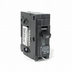 Siemens 20a Single Pole Push-on Breaker