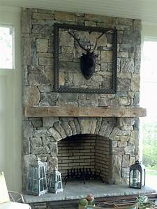 Living Room: Appealing Stone Fireplaces For Home Interior