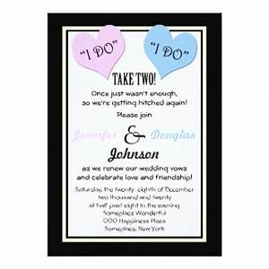 wedding vow renewal invitations announcements zazzle With take 2 wedding invitations