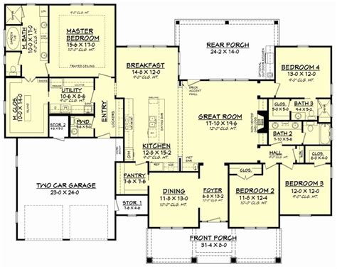 great room house plans one house plans with great room 4 bedroom house