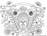 Mary Mother Coloring Pattern Catholic Virgin Craftychica Printable Embroidery Patterns Blessed Birthday Coloriage Adult Cross Crafty Guadalupe Mexican Printables Stitch sketch template