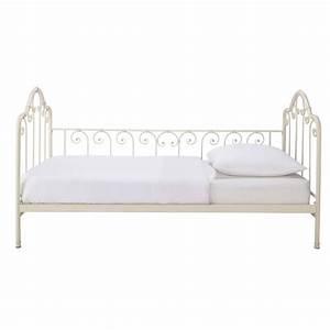 Bett 90 X 190 : bett aus metall 90 x 190 cm elfenbein juliette maisons ~ Lateststills.com Haus und Dekorationen