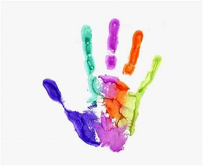 Handprint Clipart Transparent Prints Rainbow Clipartkey Tree