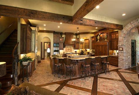 home made kitchen island kitchen with inlaid wood in brick floor mediterranean 4301