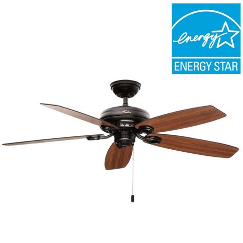 matte black ceiling fan hunter markham 52 in indoor matte black ceiling fan 54111
