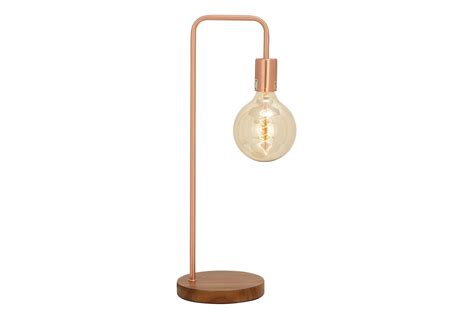 desk l copper exposed bulb living spaces