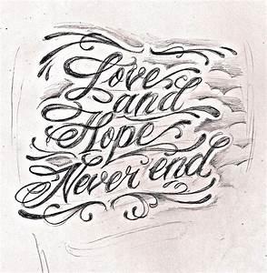 tattoo script lettering 2 by JeremyWorst on DeviantArt