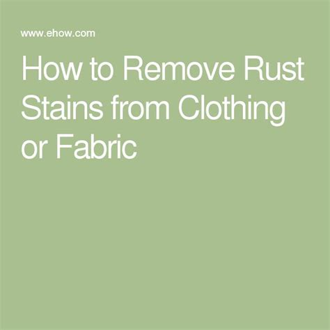 remove rust stains ideas  pinterest
